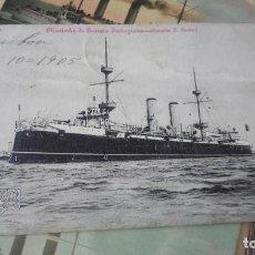 Postales: POSTAL BARCO PORTUGAL CRUCERO CRUZADOR DON D. DOM CARLOS I AÑO 1905 CÍRCULADA. Lote 222786828