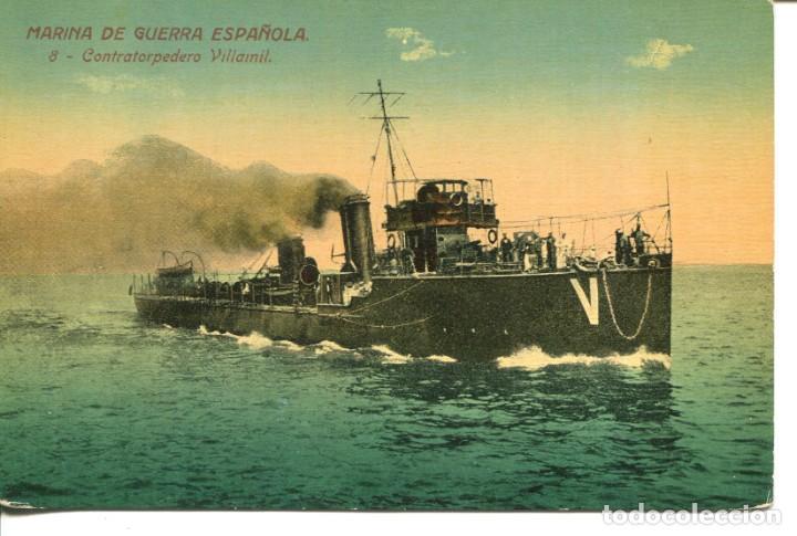 MARINA DE GUERRA ESPAÑOLA-CONTRATORPEDERO VILLAMIL- VENINI Nº 8 (Postales - Postales Temáticas - Barcos)