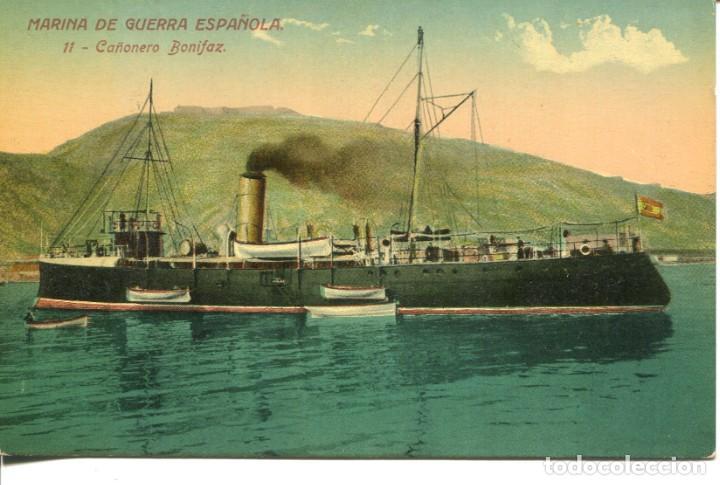 MARINA DE GUERRA ESPAÑOLA-CAÑONERO BONIFAZ- VENINI Nº 11 (Postales - Postales Temáticas - Barcos)