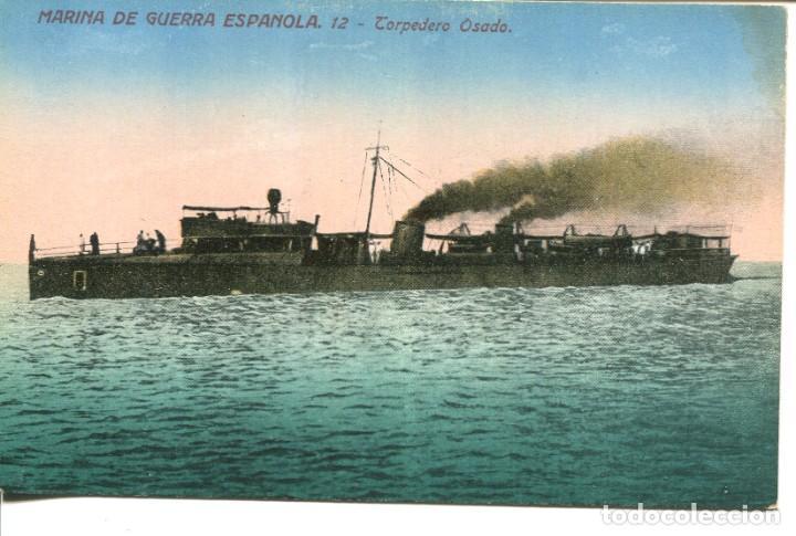 MARINA DE GUERRA ESPAÑOLA-TORPEDERO OSADO- VENINI Nº 12 (Postales - Postales Temáticas - Barcos)