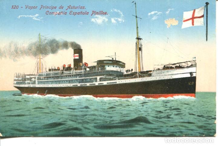 MARINA MERCANTE ESPAÑOLA VAPOR PRINCIPE DE ASTURIAS - VENINI Nº 120 (Postales - Postales Temáticas - Barcos)