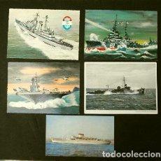 Postales: LOTE 5 POSTALES TEMÁTICAS BARCOS - ED. HOLANDESA - BARCO, BUQUES EUROPEOS. Lote 224012211