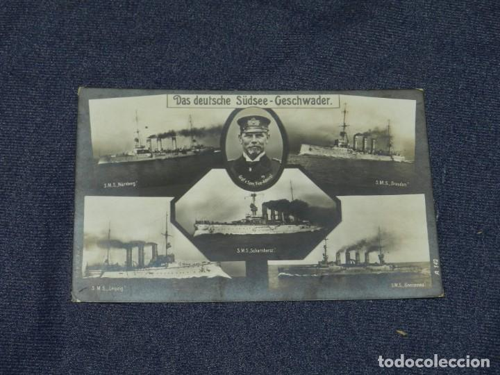 BARCOS - DAS DEUTSCHE SÜDSEE - GESCHWADER, SMS NUMBERG, S.M.S. SCHARNHORSI (Postales - Postales Temáticas - Barcos)