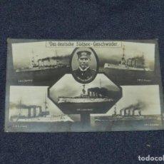 Postales: BARCOS - DAS DEUTSCHE SÜDSEE - GESCHWADER, SMS NUMBERG, S.M.S. SCHARNHORSI. Lote 224047250