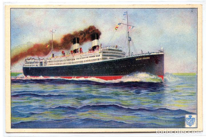 TRASATLÁNTICO VAPOR GIULIO CESARE. NAVIGAZIONE GENERALE ITALIANA (Postales - Postales Temáticas - Barcos)