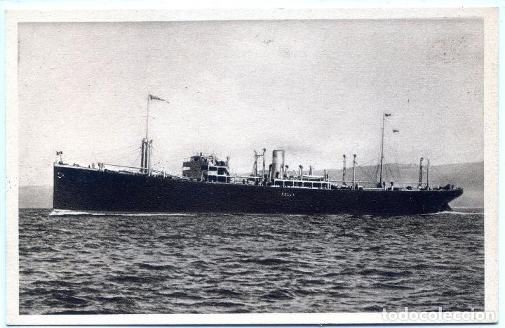 TRASATLÁNTICO MOTONAVE FELLA, NAVIGAZIONES LIBERA TRIESTINA (Postales - Postales Temáticas - Barcos)