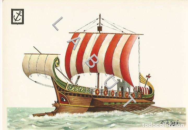 HISTORIA DEL MAR NAVE ROMANA 1 POSTAL C43 (Postales - Postales Temáticas - Barcos)