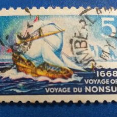 Postales: CANADA Nº YVERT 403***. AÑO 1968. 300 ANIVERSARIO DEL VIAJE DEL NONSUCH. Lote 234955805