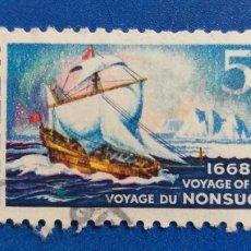Postales: CANADA Nº YVERT 403***. AÑO 1968. 300 ANIVERSARIO DEL VIAJE DEL NONSUCH. Lote 234956110
