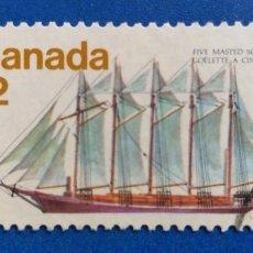 Postales: USADO. CANADÁ. YVERT 651. GOLETAS. BARCOS. AÑO 1977. Lote 234966915