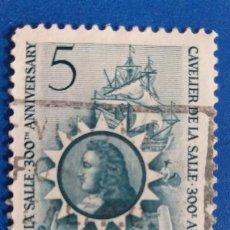 Postales: USADO. CANADA 370. AÑO 1966. BARCOS. TRICENTENARIO DE LA LLEGADA DE RENE ROBERT CAVELIER DE LA SALLE. Lote 235132980
