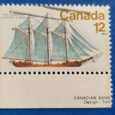 Postales: USADO. CANADA. YVERT 652. BARCOS. VELEROS. Lote 235133615