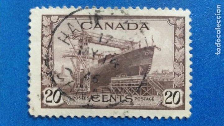 USADO. CANADA. AÑO 1943. CORVETA. YVERT 216. BARCO (Postales - Postales Temáticas - Barcos)