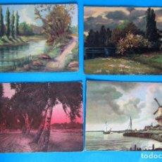 Postales: LOTE DE 18 POSTALES PAISAJES, BARCOS, ETC. 1910/1940'S. Lote 235982160