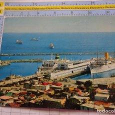 Postales: POSTAL DE BARCOS NAVIERAS. BARCO BUQUE EN EL PUERO DE LA GUAIRA, VENEZUELA. 3345. Lote 243577685