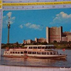 Postales: POSTAL DE BARCOS NAVIERAS. BARCO BUQUE MFS VINDOBONA EN VIENA, AUSTRIA. 3349. Lote 243578120