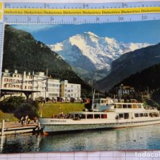Postales: POSTAL DE BARCOS NAVIERAS. BARCO BUQUE NIEDERHORN EN INTERLAKEN SUIZA. 3350. Lote 243578290