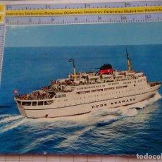 Postales: POSTAL DE BARCOS NAVIERAS. BARCO BUQUE CRUCERO DFDS SEAWAYS GENOVA ALICANTE MALAGA. 3352. Lote 243578485