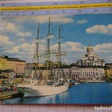 Postales: POSTAL DE BARCOS NAVIERAS. BARCO BUQUE VELERO EN EL PUERTO DE HELSINKI FINLANDIA. 3354. Lote 243583125