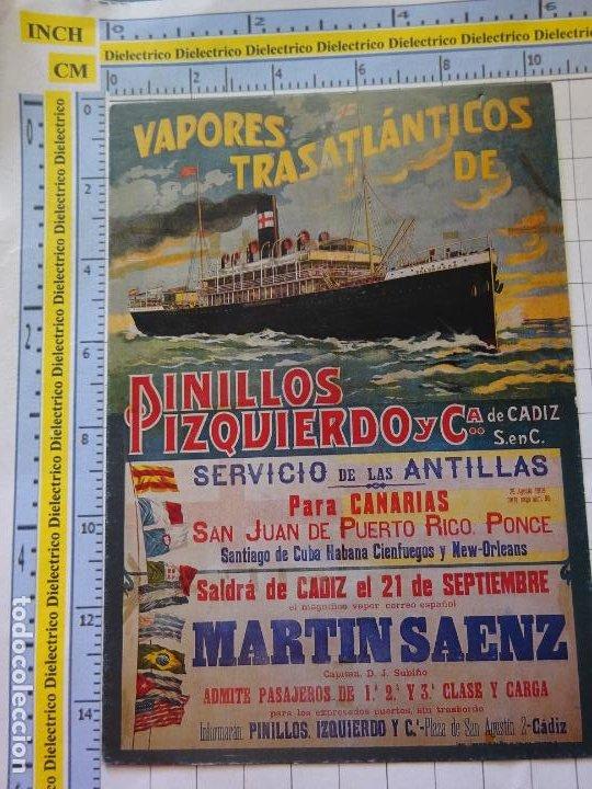 POSTAL DE BARCOS NAVIERAS. REPRODUCCIÓN FACSÍMIL. VAPORES TRASATLÉNTICOS PINILLOS IZQUIERDO. 3359 (Postales - Postales Temáticas - Barcos)