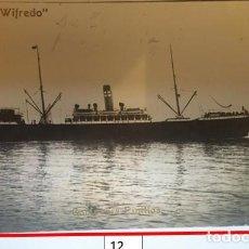 Postales: BARCO ESPAÑOL CONDE WIFREDO PUERTO DE LA CORUÑA AÑO1910. Lote 245154700