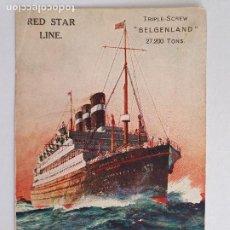Postales: BUQUE BELGENLAND - RED STAR LINE - P49396. Lote 253489820