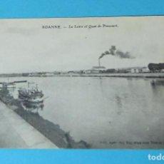 Postales: CARTE POSTALE BARCAZAS EN EL LOIRA. CERCA DE QUAI DE PINCOURT. ROANNE. FRANCIA. Lote 256124035