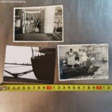 Postales: 3 FOTOGRAFÍAS DEL BARCO CIUDAD DE PALMA, EXCURSIÓN A MALLORCA, 27-7-1955. Lote 258989320