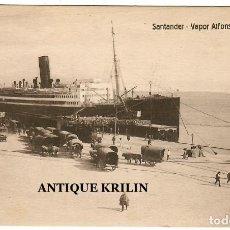 Postales: SANTANDER / VAPOR ALFONSO XIII / EDICION VILCHES. Lote 260391640