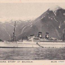 Postales: BUQUE ARANDORA STAR AT BALHOLM, LINEA CRUCERO BLUE STAR – PRINTED IN ENGLAND – S/C. Lote 262914260