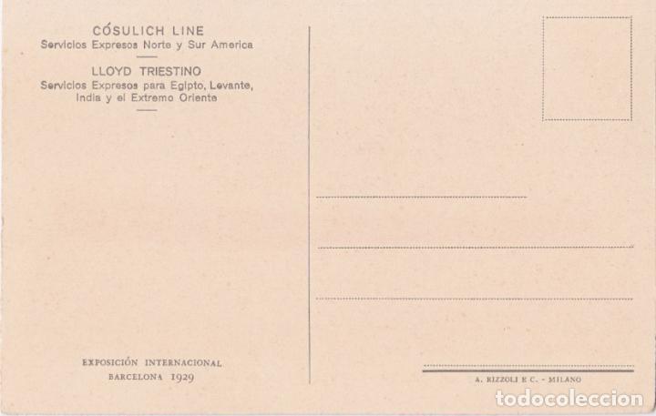 Postales: MOTONAVÍOS SATURNIA Y VULCANIA DE LA COSULICH-LINE – A.RIZZOLI – S/C - Foto 2 - 262914360