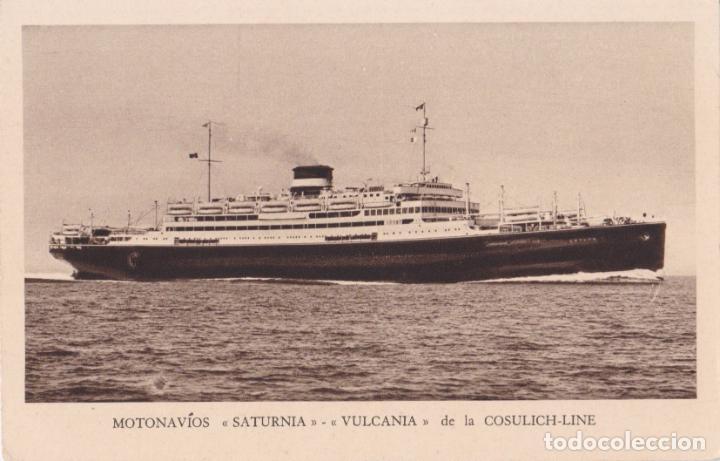 MOTONAVÍOS SATURNIA Y VULCANIA DE LA COSULICH-LINE – A.RIZZOLI – S/C (Postales - Postales Temáticas - Barcos)