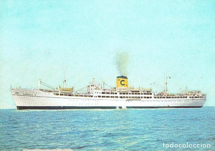 TRASATLANTICO, BUQUE DE CRUCEROS ANDREA C. COSTA CRUCEROS. SIN CIRCULAR (Postales - Postales Temáticas - Barcos)
