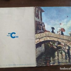Postales: ANTIGUO MENU DE BARCO FEDERICO C , GIOVANNI SEGANTINI. Lote 263247710