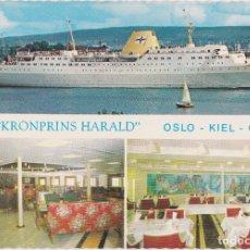 Postales: CRUCERO KROMPRINS HARALD, OSLO-KIEL-OSLO - FOTO JAC BRUN 4111/8 - PRINTED IN NORWAY MITTET – S/C. Lote 263557075