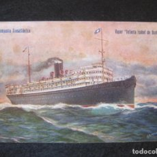 Postales: BARCO-COMPAÑIA TRANSATLANTICA-VAPOR INFANTA ISABEL DE BORBON-POSTAL ANTIGUA-(80.694). Lote 263572425