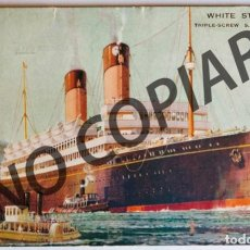 """Postales: VINTAGE POSTCARD OF S.S. """"LAURENTIC"""" - WHITE STAR LINE. EARLY 30'S.. Lote 266002643"""