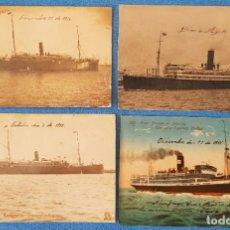 Postales: 178-LOTE 4 POSTALES DE BARCOS ESPAÑOLES ANTIGUOS A VAPOR (VER DESCRIPCIÓN). Lote 272946028