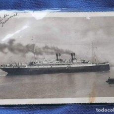 Postales: ESPAÑA SELLOS POSTAL BARCO ROMA AÑOS 1930 ENVIADA BARCELONA A SANTA COLOMA. Lote 273993578
