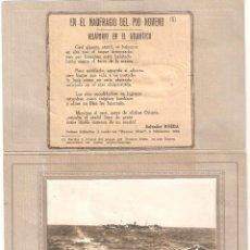 Cartes Postales: NAUFRAGIO DEL TRASATLÁNTICO MISXTO DEL PIO IX DE LA CÍA.PINILLOS. CARPETA CONMEMORATIVA MODERNISTA.. Lote 275211768