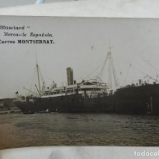 Postales: ANTIGUA POSTAL FOTOGRAFICA.SERIE ESTANDAD.MARINA MERCANTE ESPAÑOLA.VAPOR CORREO MONTSERRAT. Lote 277461143