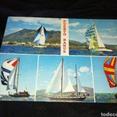 Postales: PUERTO BANUS, AÑOS 70,VELEROS.. Lote 278176208