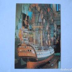 Postales: MUSEO NAVAL. MADRID. MODELO DE NAVÍO DE 112 CAÑONES SANTA ANA. NUEVA. Lote 278319668