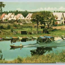 Postales: 1963 MOTOR BOAT RIGA LARVIA BY LAKE ???EZERS RIVER HOUSE SOVIET USSR POSTCARD. Lote 278706893