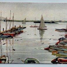 Postales: 1958 YACHT CLUB TRADE UNIONS SOVIET PROPAGANDA BY VOLKOV ART VINTAGE POSTCARD - VOLKOV N.N.. Lote 278734923