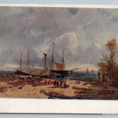 Postales: 1933 HARBOR SAILING BOATS SHIP SEA SAILORS BY EUGENE GOZNAK ART VINTAGE POSTCARD - EUG?NE-LOUIS-GABR. Lote 278735398