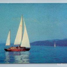 Postales: 1975 SAILBOARD SAILING SHIP SEA GEORGIA BATUMI LANDSCAPE SOVIET USSR POSTCARD - PHOTO. Lote 278738143