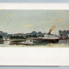 Postales: 1963 BLACK SEA PORT IN BAKU STEAMBOAT SHIPS BOAT RARE SOVIET USSR POSTCARD - KASUMOV N.. Lote 278738243
