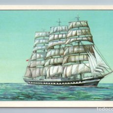 Postales: 1980 SAIL TRAINING SHIP SEDOV VESSEL GERMAN CARGO SHIP SOVIET USSR POSTCARD - PHOTO. Lote 278737693