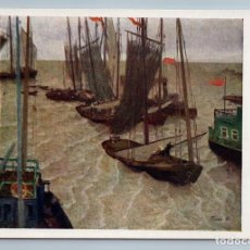 Postales: 1962 PLAN IMPLEMENTED FISHING BOATS IN THE CASPIAN RARE SOVIET USSR POSTCARD - ROMAS YA.D.. Lote 278738573